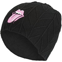 Rolling Stones - Tongue Logo Textured Beanie