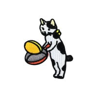 Cooking breakfast Cute Cat Patch Pet Patch Iron on Patches