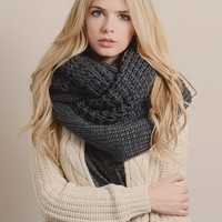 Oversized Infinity Scarf - Charcoal