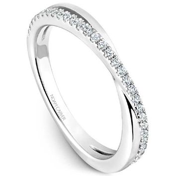 Noam Carver Round Cut Criss-Cross Diamond Wedding Band