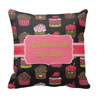 Lime Green and Pink Cupcakes on Brown Pillows