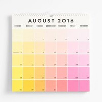 Paper Source Paint Chip Calendar 2016-2017