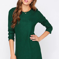 Pike Green Long Sleeve Sweater Dress