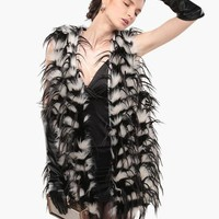 Oh My Owl Shed Faux Fur vest