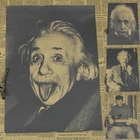 Vintage Paper Retro anime poster - Einstein's theory of relativity -Posters cudi poster Vintage Home Wall sticker Decor 30*21CM