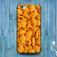 Funny Gold Fish Cracker Phone Case Cute Snack Cover iPod iPhone 4 4s 5 5s 5c 6 +