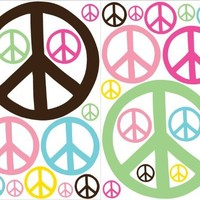 Peace Signs Multicolored Wall Stickers Decals Decor