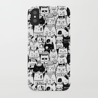 Itty Bitty Kitty Committee iPhone Case by noondaydesign