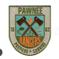 Pawnee Rangers Badge Iron On Patch