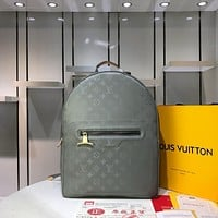 LV Louis Vuitton MEN'S MONOGRAM TITANIUM CANVAS BACKPACK BAG
