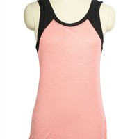 Casual Color Block Printed Round Neck Tunic Cami Tank Top