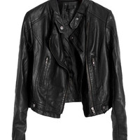 Black Motorcycle Jackets in PU Leather = 1920140100