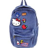Loungefly Hello Kitty Patches Denim Backpack