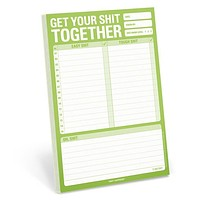Get Your Shit Together Pad in Lime