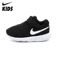 NIKE Kids TANJUN New Arrival Baby Unisex Children Casual Shoes Outdoor Running Shoes Breathable Hook Loop Sneakers 818383-011