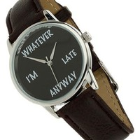 Topman 'Whatever' Leather Strap Watch, 35mm | Nordstrom