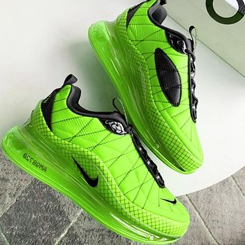Bunchsun NIKE MAX-720-818 Trending Knit Line Shoe Plaid Shoes Sneakers Camouflage Green