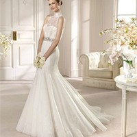 White Mermaid Sweetheart Beading Lace Tulle 2013 Wedding Dress IWD0177 -Shop offer 2013 wedding dresses,prom dresses,party dresses for girls on sale. #Category#