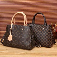 Lv Women Shopping Bag Leather Tote Crossbody Satchel Shoulder Bag Handbag-4