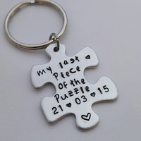 personalised name keyring - puzzle - anniversary gift - gifts for men - gifts for boyfriend - husband gift - wife wedding gift - best friend