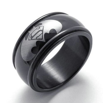[Free Shipping] New Batman VS Superman Steel Ring