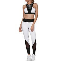 Mesh Design Hollow Out Yoga Set