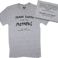 Frank Zappa and the Mothers Shirt available rom OldSchoolTees.com | Great selection of vintage rock tees and more for your collection.