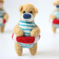 Poolparty bear brooch by gabrielefelt on Etsy