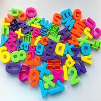 1Set Of 26 Colorful Teaching Magnetic Numbers Fridge Magnets Alphabet to Improve a child's intelligence