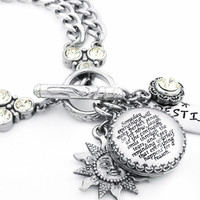 Inspirational Charm Bracelet, Everything Happens for a Reason