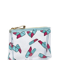 Lipstick Print Cosmetic Pouch