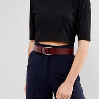 French Connection Double Buckle Leather Belt at asos.com