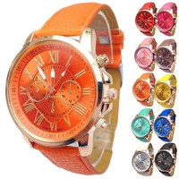 Rose Gold Classic Geneva Watch - Choose Your Color for Women or Men