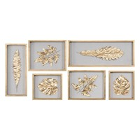 Golden Leaves Shadow Box - Set of 6 by Uttermost