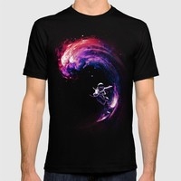 Space Surfing T-shirt by Nicebleed