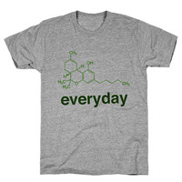 Weed Science THC Athletic Grey Unisex T Shirt