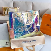 LV KEEPALL Laser Colorful Shopping Bag Handbag Shoulder Bag Crossbody Bag