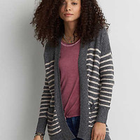 AEO Super Soft Longer Length Cardigan, Gray