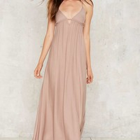 Aislin Plunging Maxi Dress