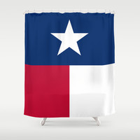 """The State flag of Texas - The """"Lone Star Flag"""" of the """"Lone Star State"""" Authentic Verticle Version Shower Curtain by LonestarDesigns2020 - Flags Designs +"""