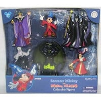 disney parks mickey sorcerer villains 6 pieces figure cake playset new with box