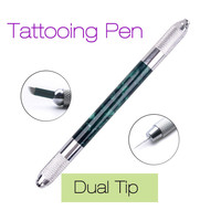 Tebori Dual End Tattooing Pen Microblading Tattoo Machine Permanent Makeup Eyebrow Tattoo Manual Pen Needle Blade 2016 DIY Arts