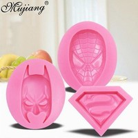 Batman Dark Knight gift Christmas 3D Silicone Molds Superman Spiderman Batman Sugarcraft Fondant Chocolate Mold Face Silicone Cake Mold Cake Decorating Tools AT_71_6