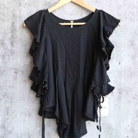 Free People - Tiny Bells Tank Top in Black