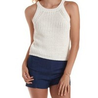 Racer Front Sweater Knit Tank Top by Charlotte Russe