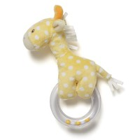 Ba Lolly Ba Ring Rattle, Giraffe, Yellow spotted giraffe hugs plastic rattle toy for added play value By GUND - Walmart.com