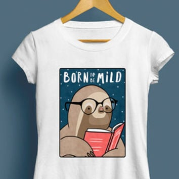 Born To Be Mild Sloth T-Shirt, Unisex T-Shirt - Cute Illustrated Graphic Tee, Gift for Him, For Her, Sloths, Funny, Birthday, S M L XL XXL
