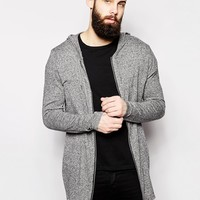 ASOS Longline Zip Through Hoodie