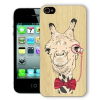 ChiChiC Iphone Case, i phone 4 4g 4s case,Iphone4 iphone4g iphone4s covers, plastic cases back cover skin protector,camel eyeglasses bowtie