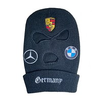 """GERMANY"" Embroidered Ski Mask (VARIOUS COLORS)"